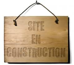 site en cours de construction image
